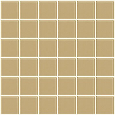 Bijou 22 2 x 2 Glass Mosaic Tile in Wheat Brown