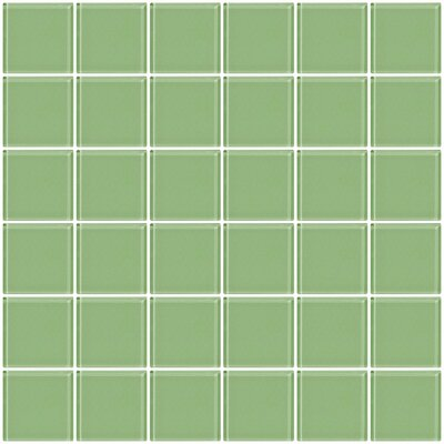 Bijou 22 2 x 2 Glass Mosaic Tile in Mint Green