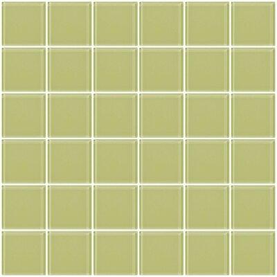 Bijou 22 2 x 2 Glass Mosaic Tile in Celery Green