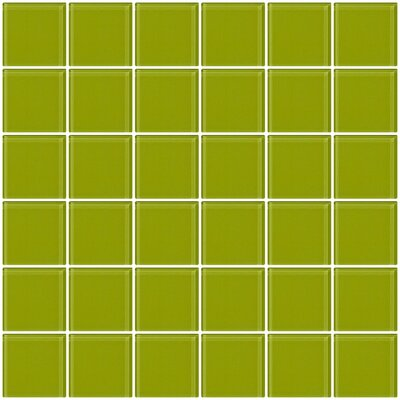 Bijou 22 2 x 2 Glass Mosaic Tile in Lime Green