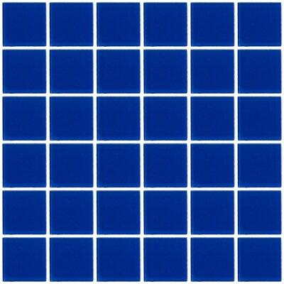 Bijou 22 2 x 2 Glass Mosaic Tile in Blue