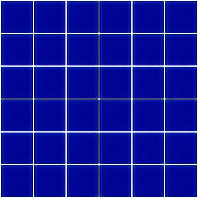 Bijou 22 2 x 2 Glass Mosaic Tile in Cobalt Blue