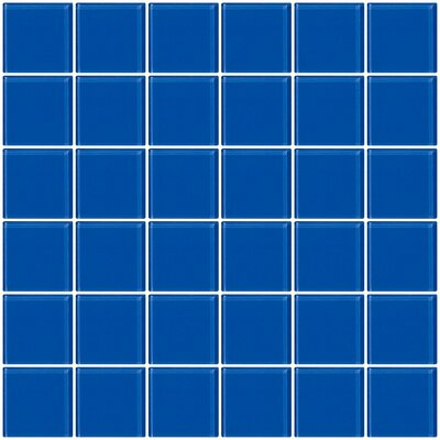 Bijou 22 2 x 2 Glass Mosaic Tile in Periwinkle Blue