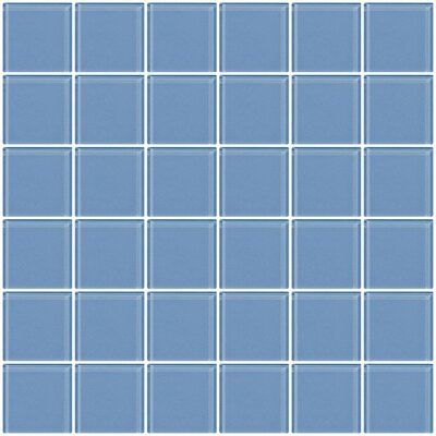 Bijou 22 2 x 2 Glass Mosaic Tile in Light Periwinkle Blue
