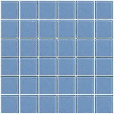 Bijou 22 2 x 2 Glass Mosaic Tile in Light Periwinkle Blue