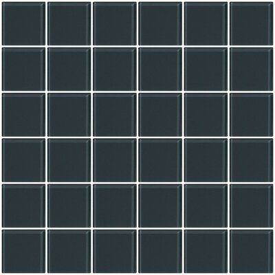 Bijou 22 2 x 2 Glass Mosaic Tile in Dark Gray