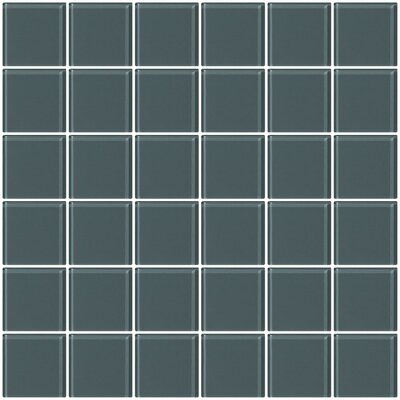 Bijou 22 2 x 2 Glass Mosaic Tile in Medium Gray