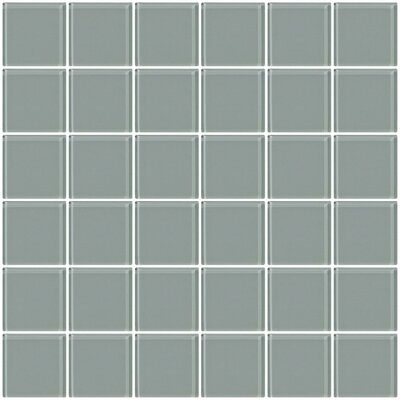 Bijou 22 2 x 2 Glass Mosaic Tile in Gray