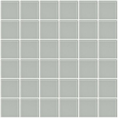 Bijou 22 2 x 2 Glass Mosaic Tile in Light Gray