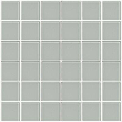 Bijou 22 2 x 2 Glass Mosaic Tile in Light Gray