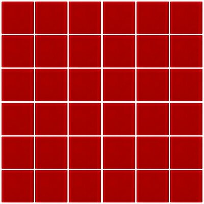 Bijou 22 2 x 2 Glass Mosaic Tile in Red