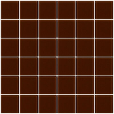 Bijou 22 2 x 2 Glass Mosaic Tile in Brown