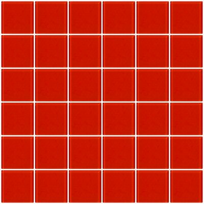 Bijou 22 2 x 2 Glass Mosaic Tile in Tomato Red