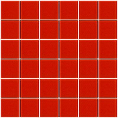 Bijou 22 2 x 2 Glass Mosaic Tile in Tomato Red