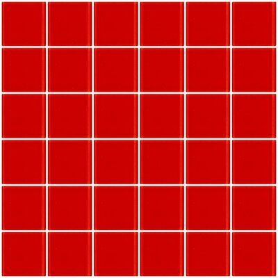 Bijou 22 2 x 2 Glass Mosaic Tile in Deep Tomato Red