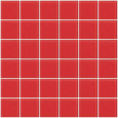Bijou 22 2 x 2 Glass Mosaic Tile in Watermelon Pink