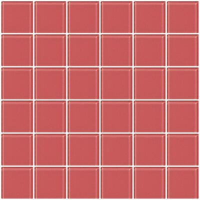 Bijou 22 2 x 2 Glass Mosaic Tile in Coral Pink