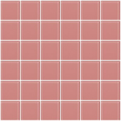 Bijou 22 2 x 2 Glass Mosaic Tile in Pink