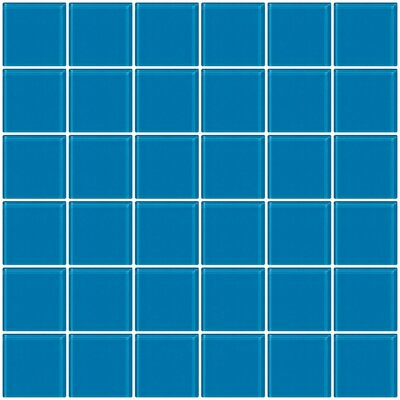 Bijou 22 2 x 2 Glass Mosaic Tile in Turquoise Blue