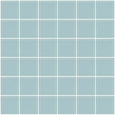 Bijou 22 2 x 2 Glass Mosaic Tile in Robin Egg Blue