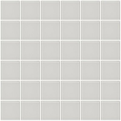 Bijou 22 2 x 2 Glass Mosaic Tile in Super White