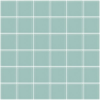 Bijou 22 2 x 2 Glass Mosaic Tile in Light Aqua Blue