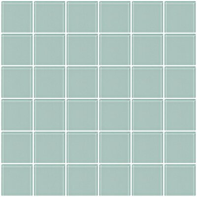 Bijou 22 2 x 2 Glass Mosaic Tile in Pale Aqua Blue