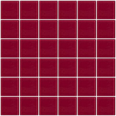 Bijou 22 2 x 2 Glass Mosaic Tile in Burgundy