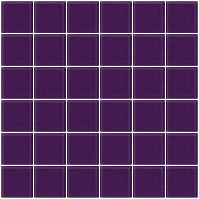 Bijou 22 2 x 2 Glass Mosaic Tile in Lavender Purple