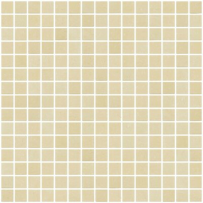Architects Overstock 0.75 x 0.75 Glass Mosaic Tile in Wheat Brown