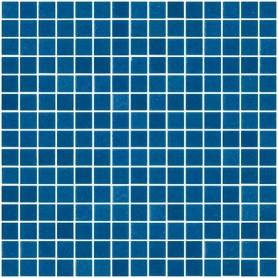 Architects Overstock 0.75 x 0.75 Glass Mosaic Tile in Dark Turquoise Blue