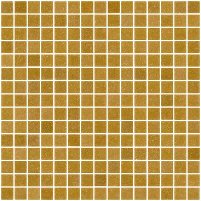 Architects Overstock 0.75 x 0.75 Glass Mosaic Tile in Caramel Brown