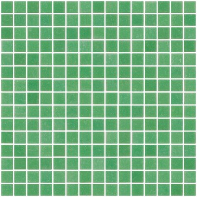Architects Overstock 0.75 x 0.75 Glass Mosaic Tile in Jade Green