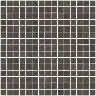 Architects Overstock 0.75 x 0.75 Glass Mosaic Tile in Gunmetal Gray