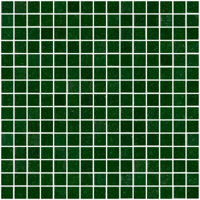 Architects Overstock 0.75 x 0.75 Glass Mosaic Tile in Forest Green