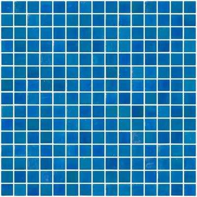 Architects Overstock 0.75 x 0.75 Glass Mosaic Tile in Turquoise Blue