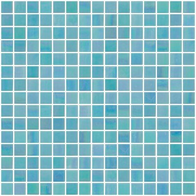 Architects Overstock 0.75 x 0.75 Glass Mosaic Tile in Aqua Blue