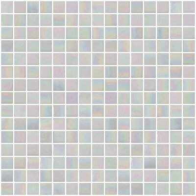 Architects Overstock Mother of Pearl 0.75 x 0.75 Glass Mosaic Tile in White Iridescent