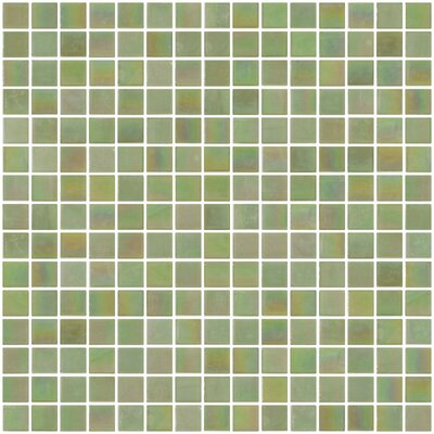 Architects Overstock 0.75 x 0.75 Glass Mosaic Tile in Lime Green