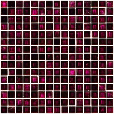 Architects Overstock Marbled 0.75 x 0.75 Glass Mosaic Tile in Transparent Purple