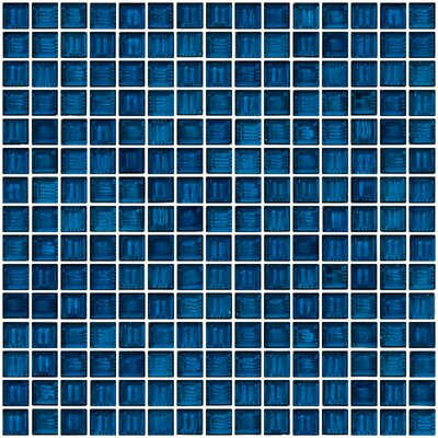 Architects Overstock Marbled 0.75 x 0.75 Glass Mosaic Tile in Polished Blue and green