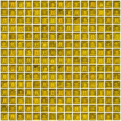Architects Overstock Marbled 0.75 x 0.75 Glass Mosaic Tile in Transparent Yellow