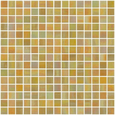 Architects Overstock Marbled 0.75 x 0.75 Glass Mosaic Tile in Mustard Yellow