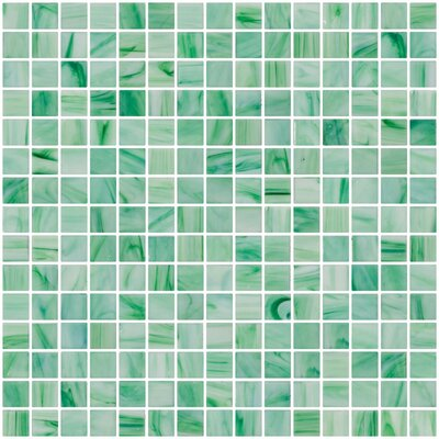 Architects Overstock Marbled 0.75 x 0.75 Glass Mosaic Tile in Green