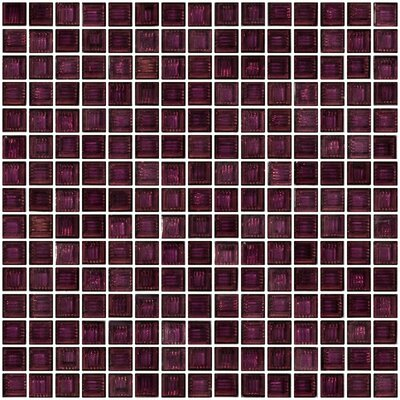 Architects Overstock Marbled 0.75 x 0.75 Glass Mosaic Tile in Lavender