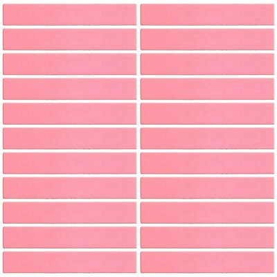 Bijou 16 1 x 6 Glass Subway Tile in Coral Pink