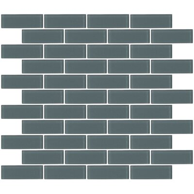 1 x 3 Glass Subway Tile in Frosted Gray