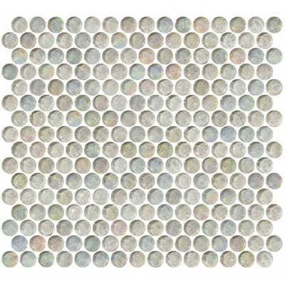 0.75 x 0.75 Glass Mosaic Tile in Beige