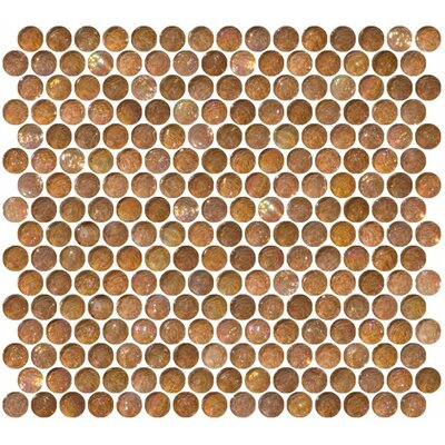 0.75 x 0.75 Glass Mosaic Tile in High-Gloss Brown