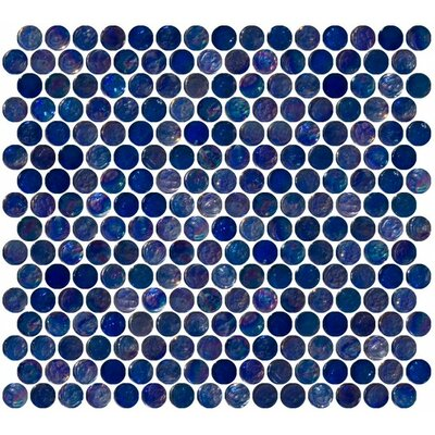 0.75 x 0.75 Glass Mosaic Tile in High-Gloss Blue